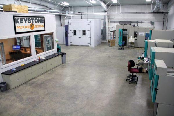 Keystone Package Testing Lab Photo